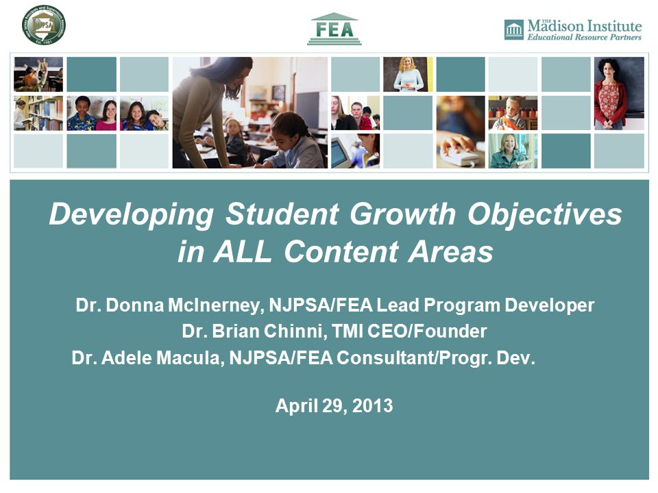 Developing Student Growth Objectives in ALL Content Areas Dr.