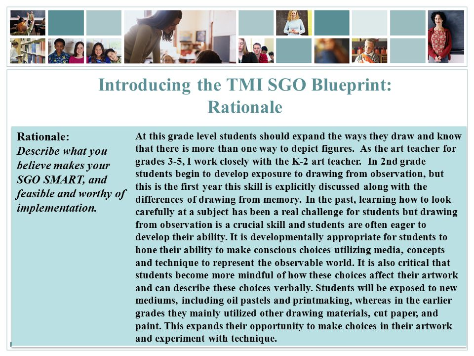 53 Introducing the TMI SGO Blueprint: Rationale