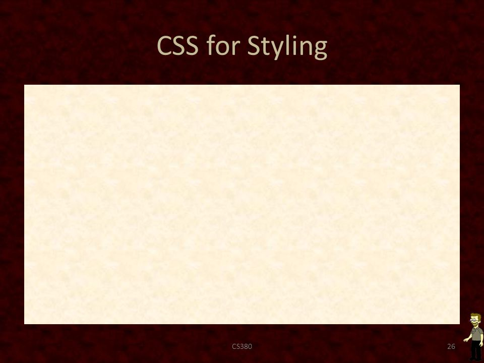 CSS for Styling CS38026