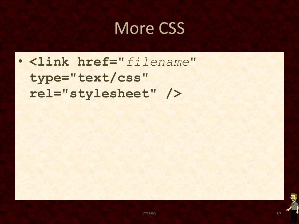 More CSS CS38057