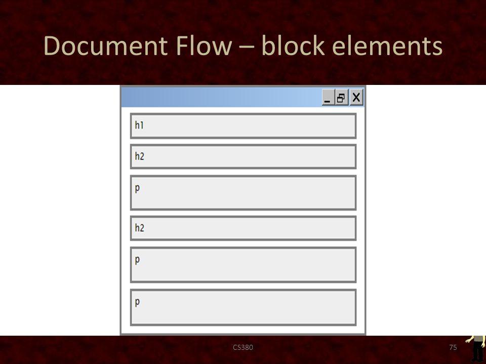Document Flow – block elements CS38075