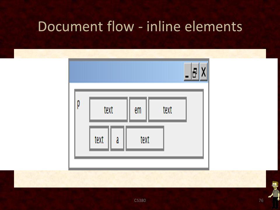 Document flow - inline elements CS38076