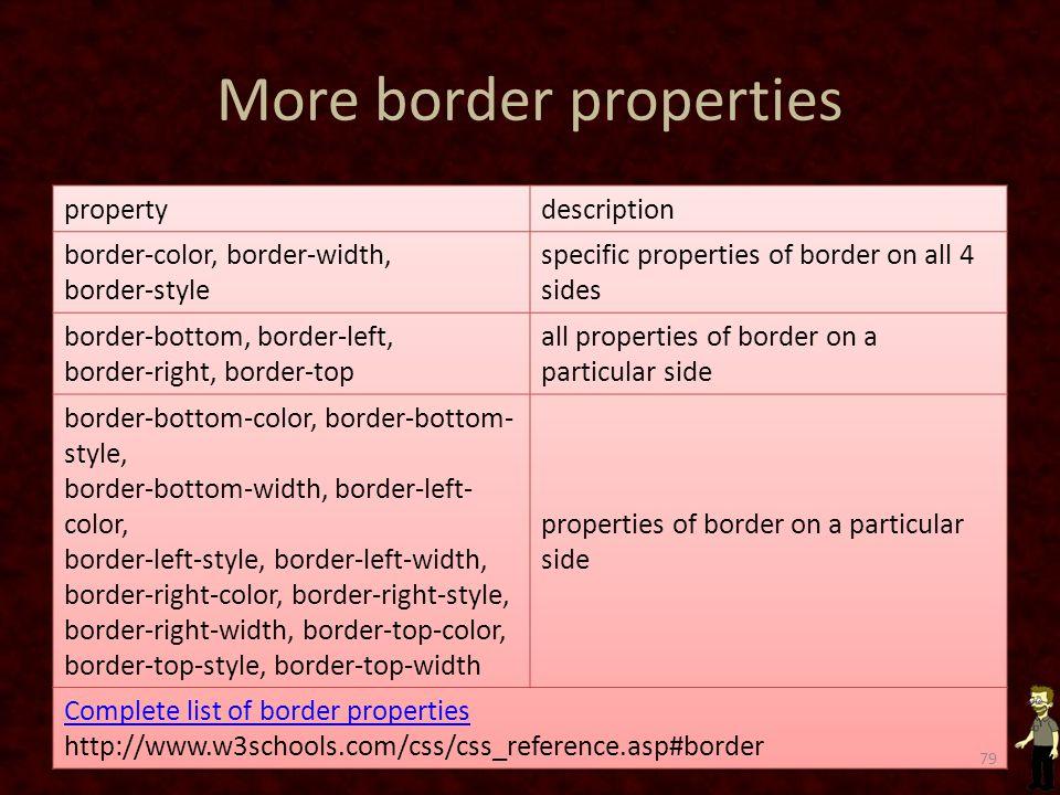 More border properties 79