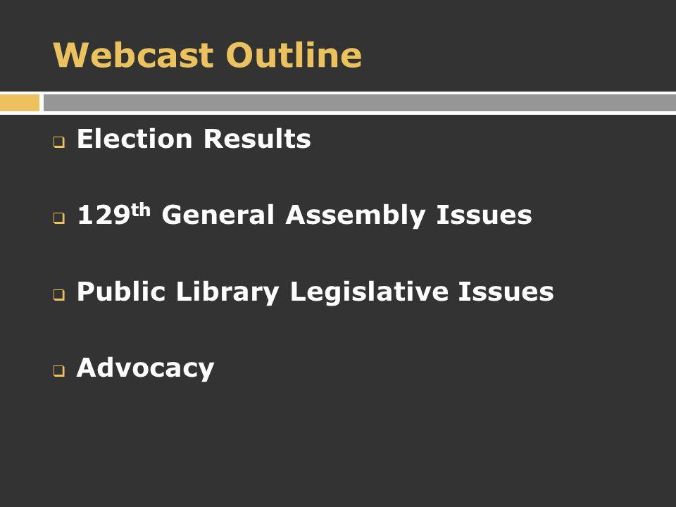 Election Results  Governor-elect John Kasich  OBM Director – Tim Keene  House Speaker Bill Batchelder  Senate President Tom Niehaus