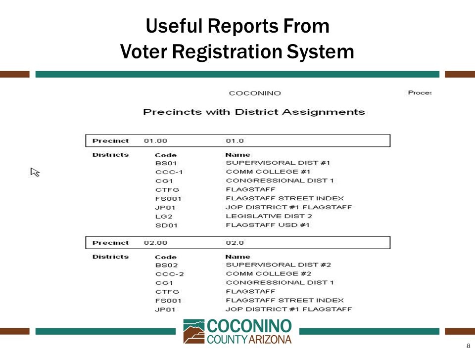8 Useful Reports From Voter Registration System