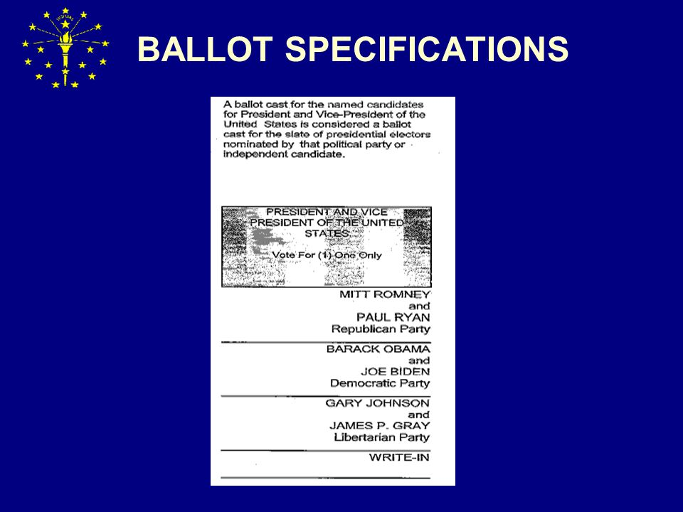 BALLOT ERRORS Absentee Ballots Without Bipartisan Initials How to avoid- t raining and oversight of absentee voting process What to do if absentee ballots sent without bi-partisan initials  If voter voting in person or before travel board ballot can be spoiled and replaced (IC 3-11-10-25(e); IC 3-11-10-26(b))  If by mail then use the ABS-5 procedure ( IC 3-11-4-17.7; IC 3-11-10-1.5)