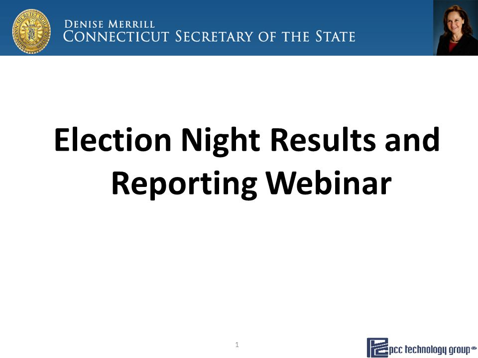 Election Night Results and Reporting Webinar 1