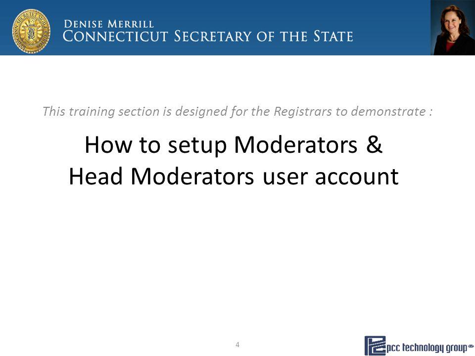 Moderator's Return… Tally Sheet 25