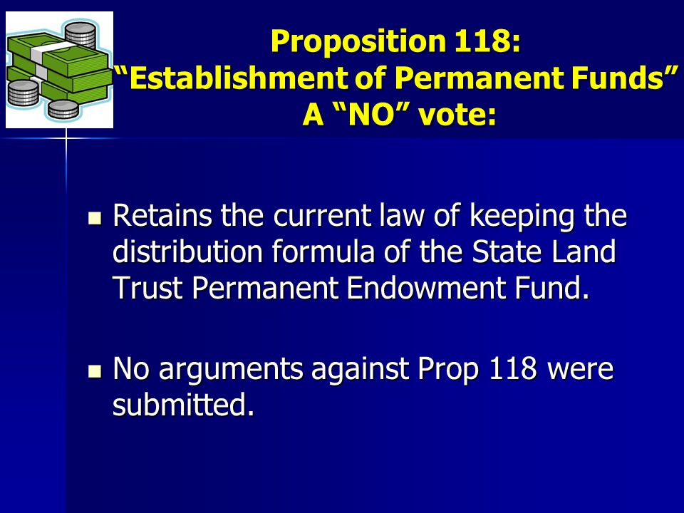 Retains the current law of keeping the distribution formula of the State Land Trust Permanent Endowment Fund.