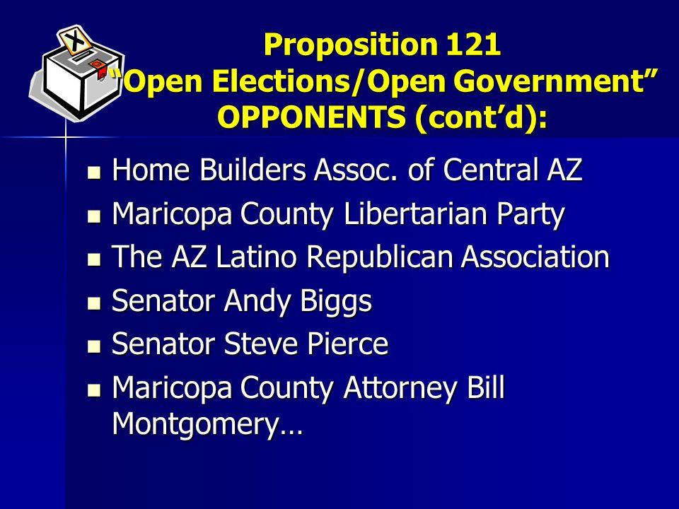 Home Builders Assoc. of Central AZ Home Builders Assoc. of Central AZ Maricopa County Libertarian Party Maricopa County Libertarian Party The AZ Latin