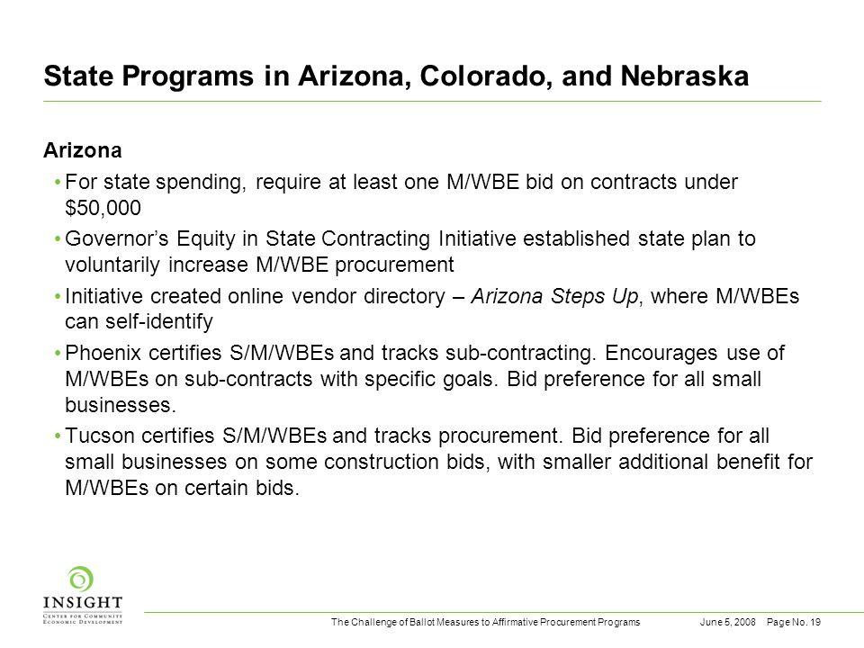 The Challenge of Ballot Measures to Affirmative Procurement ProgramsJune 5, 2008Page No.