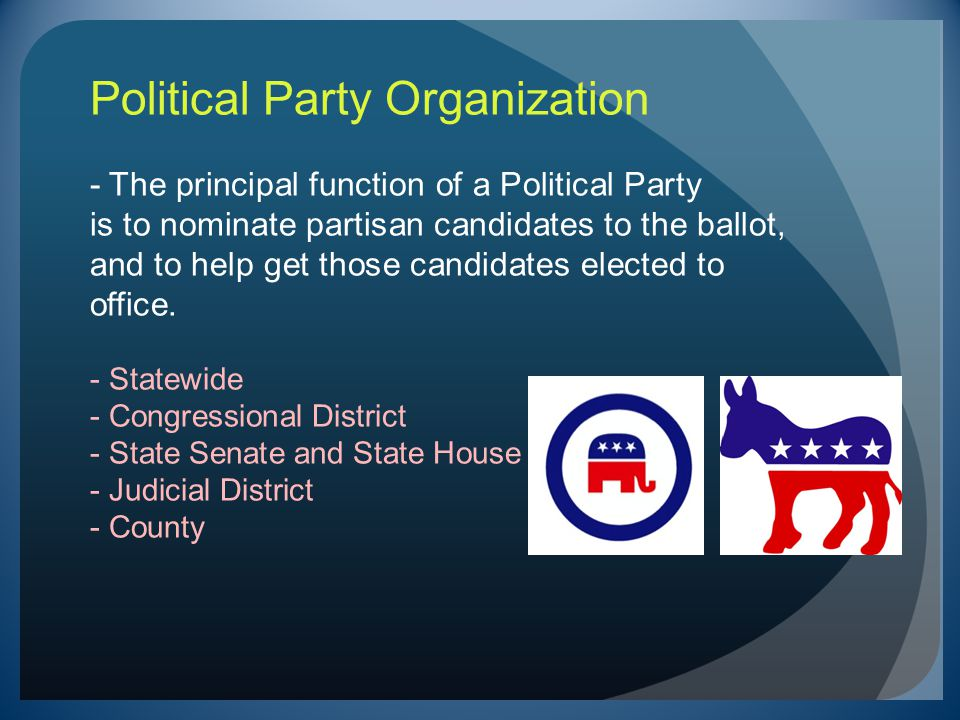 Candidate Ballot Access Terminology: Candidates are DESIGNATED to the Primary Election Ballot by Assembly or by Petition.