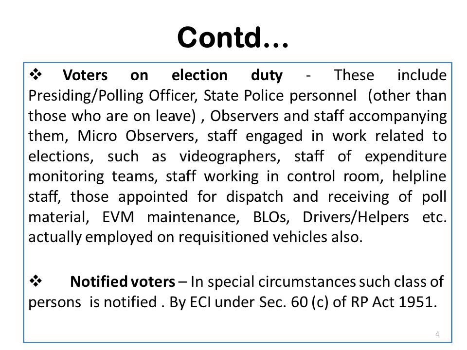 Contd… V.One Officer well trained in the process of elector search should be deputed.