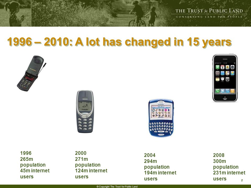 1996 – 2010: The Emergence of Generation X The environmental movement does not touch them as individuals.