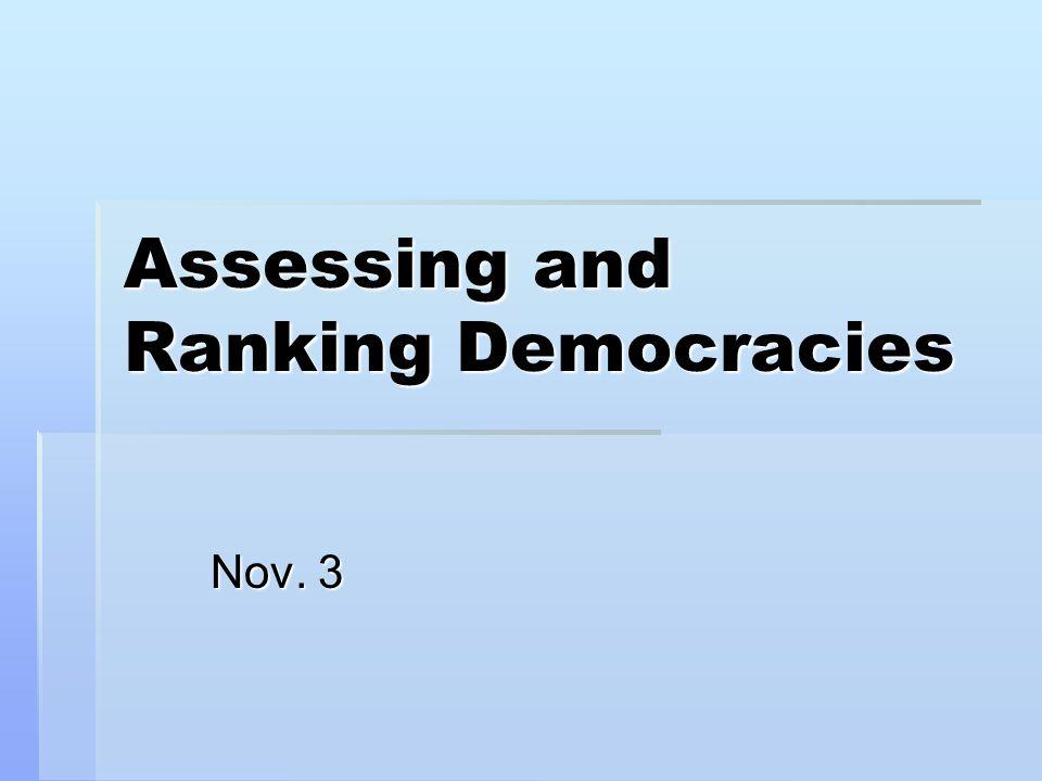 Assessing and Ranking Democracies Nov. 3