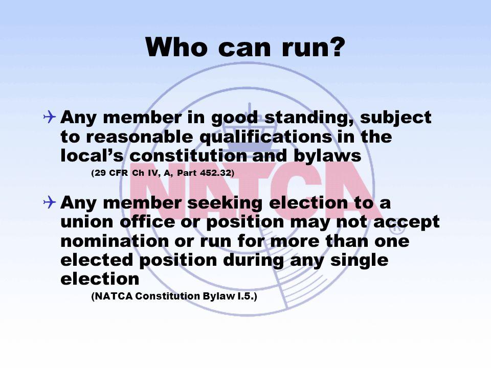 Who can run.