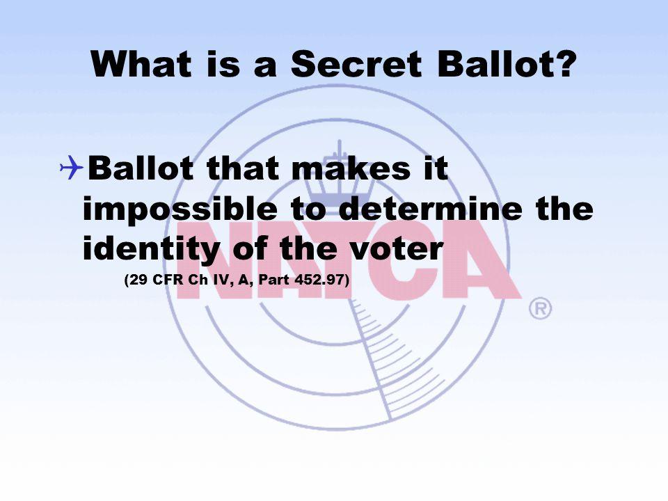 What is a Secret Ballot.