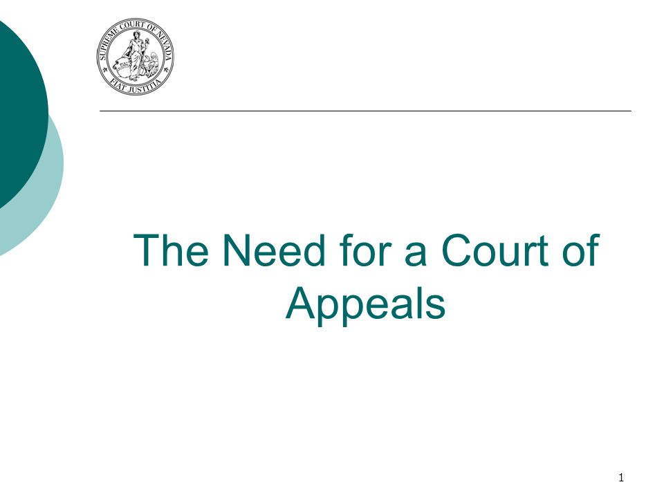 The Need for a Court of Appeals 1