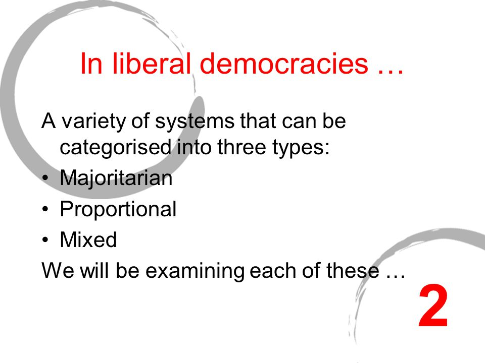 Alternative Electoral Systems Read and précis notes will be checked before this Lecture is delivered … 1