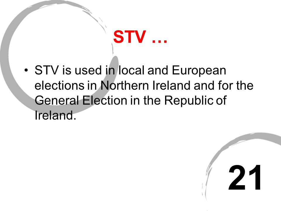 STV … If no candidate successfully reaches the quota on the first ballot - the candidate with the lowest vote is eliminated and their second preferenc