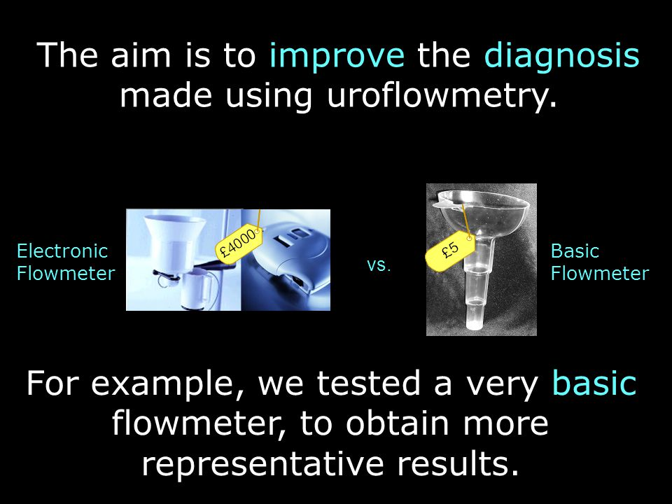 The aim is to improve the diagnosis made using uroflowmetry.