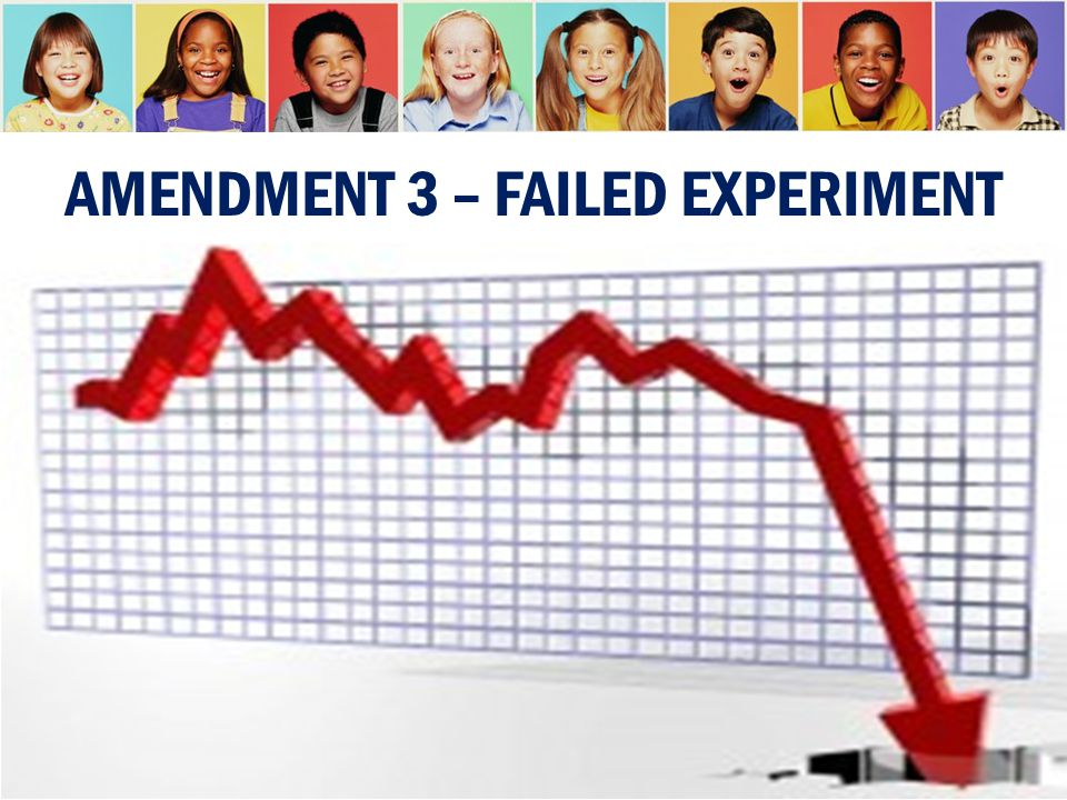 AMENDMENT 3 – FAILED EXPERIMENT