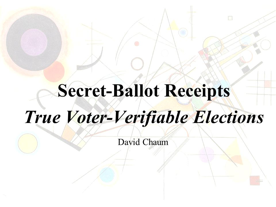 VoteMeter & PrinterFace State-Level controls (including version #s) Better blind voter integrity Open interface standard See VoteMeter.com