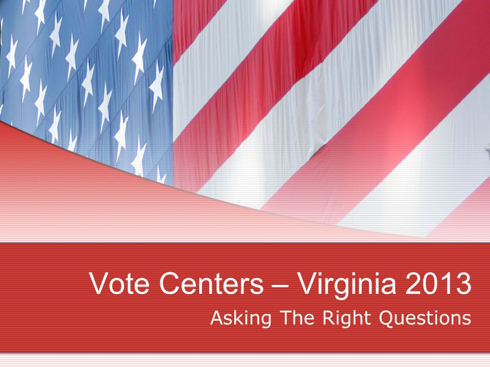 What is a Vote Center.