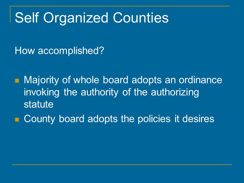 Organizational Meeting Board Rules