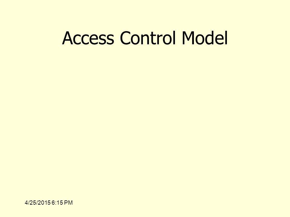 4/25/2015 6:17 PM Access Control Model