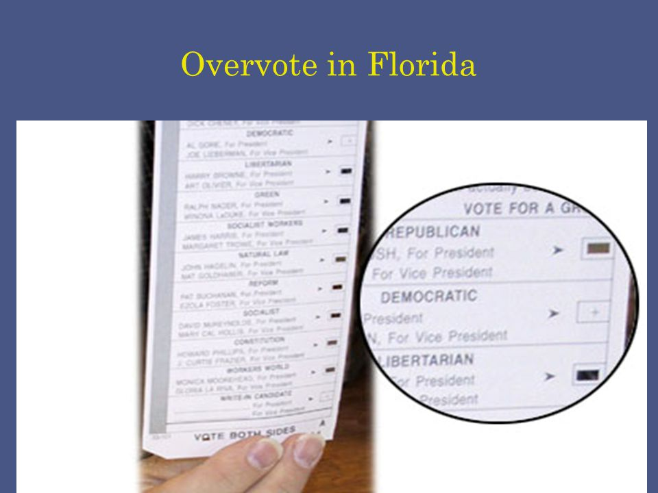 Overvote in Florida