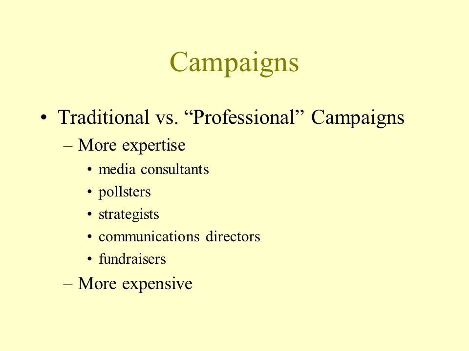 Campaigns Traditional vs.