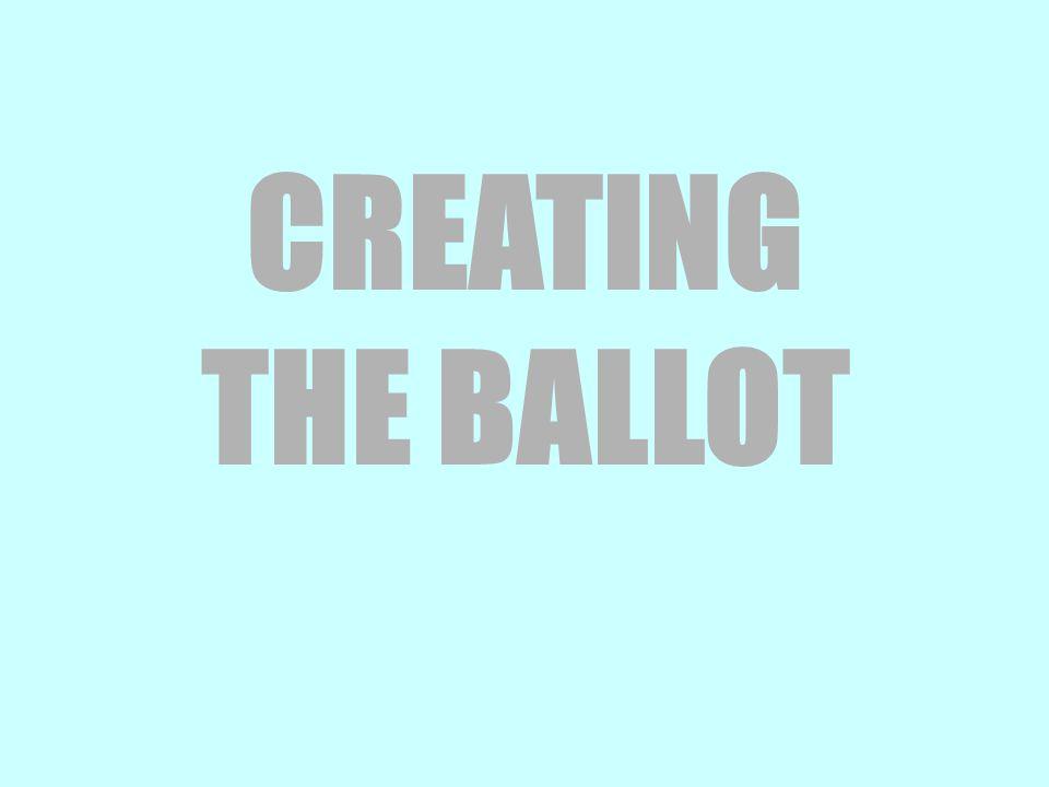 CREATING THE BALLOT