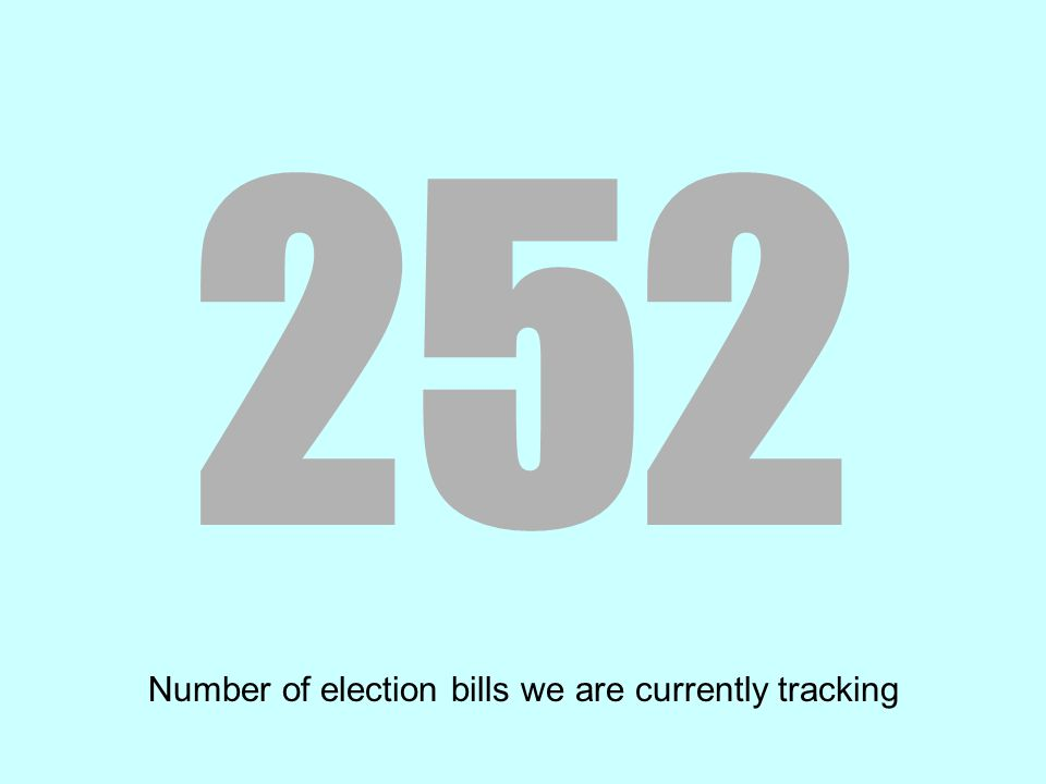 252 Number of election bills we are currently tracking