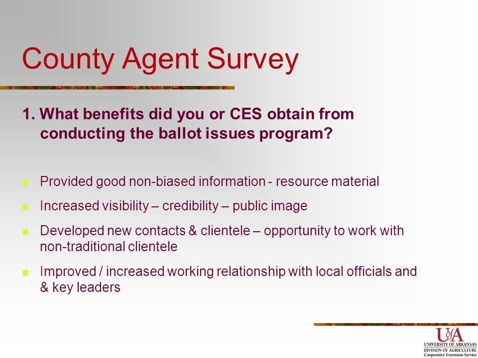 County Agent Survey 1.