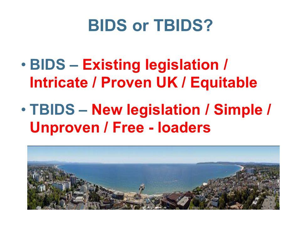 BIDS or TBIDS.