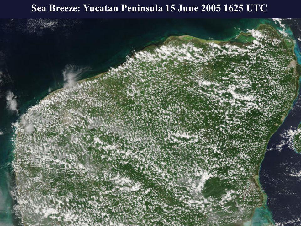 00 UTC 18 July 1998 Sea Breeze: Yucatan Peninsula 15 June 2005 1625 UTC