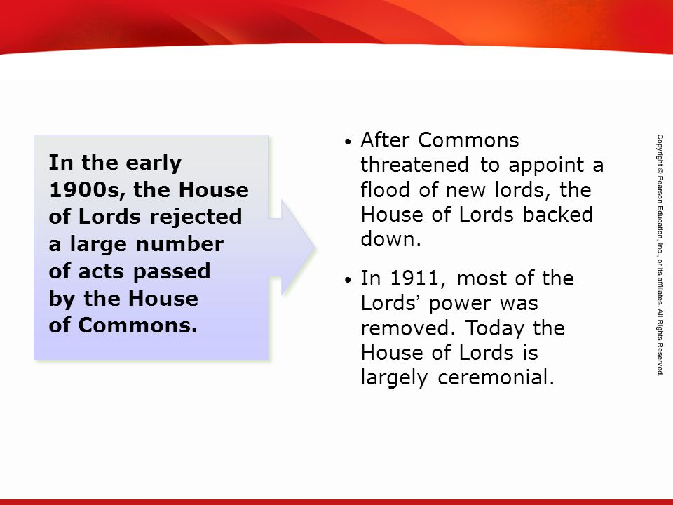 TEKS 8C: Calculate percent composition and empirical and molecular formulas. In the early 1900s, the House of Lords rejected a large number of acts pa