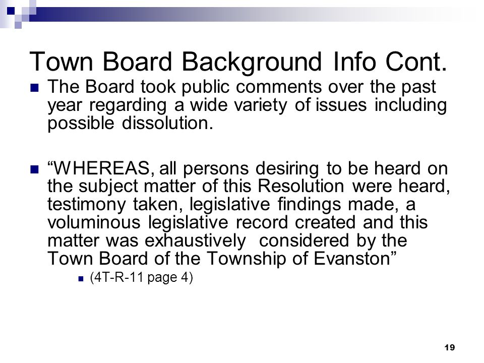 19 Town Board Background Info Cont.