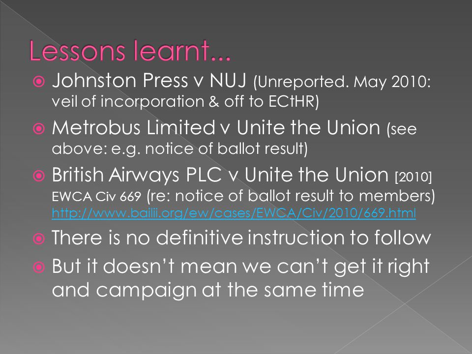  Johnston Press v NUJ (Unreported.