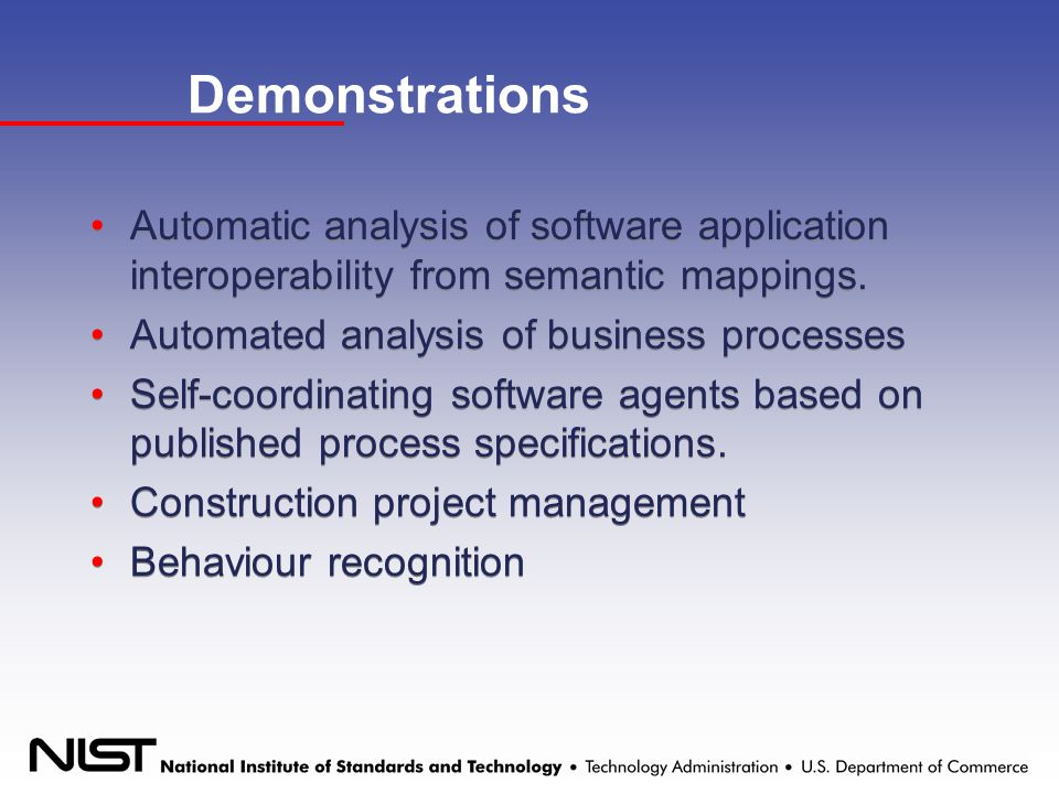 Demonstrations Automatic analysis of software application interoperability from semantic mappings.
