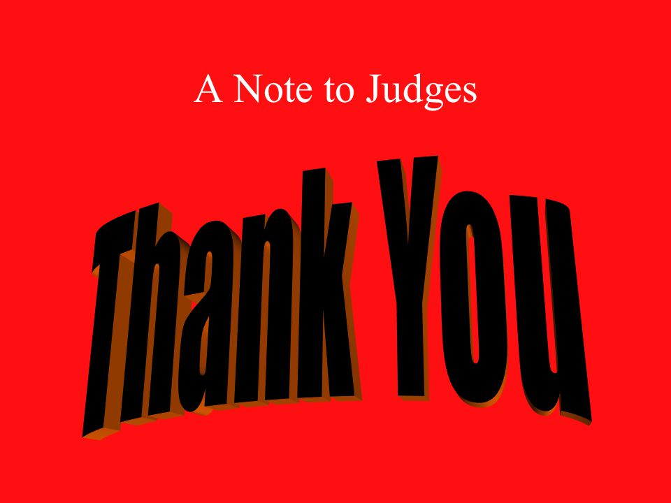 A Note to Judges