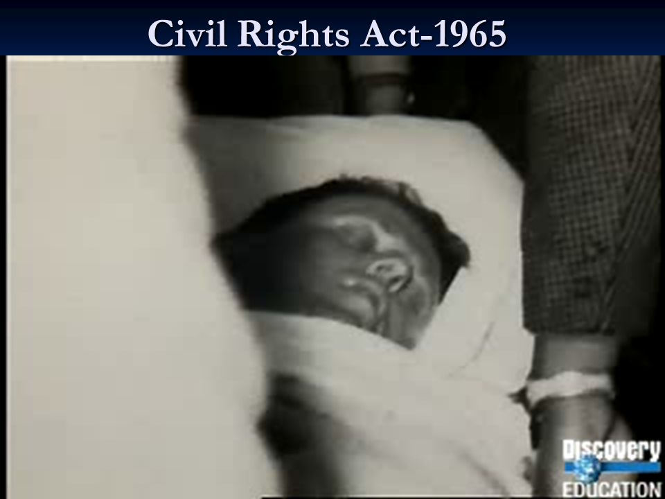 Civil Rights Acts 1957-Set up Civil Rights Commission-Investigate discrimination 1960-Est.