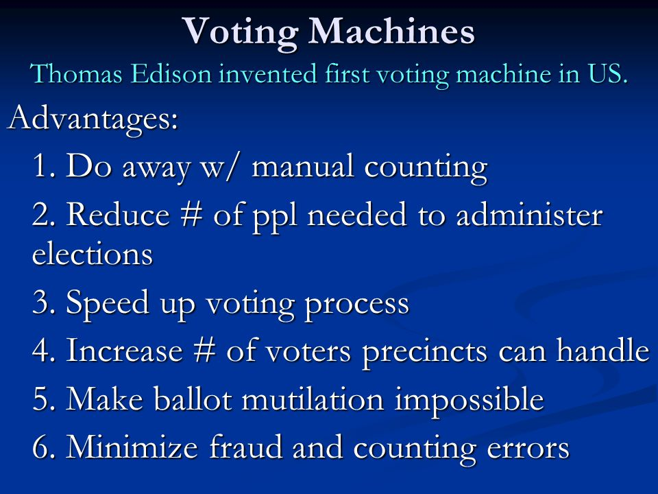 Types of Ballots (Pg.