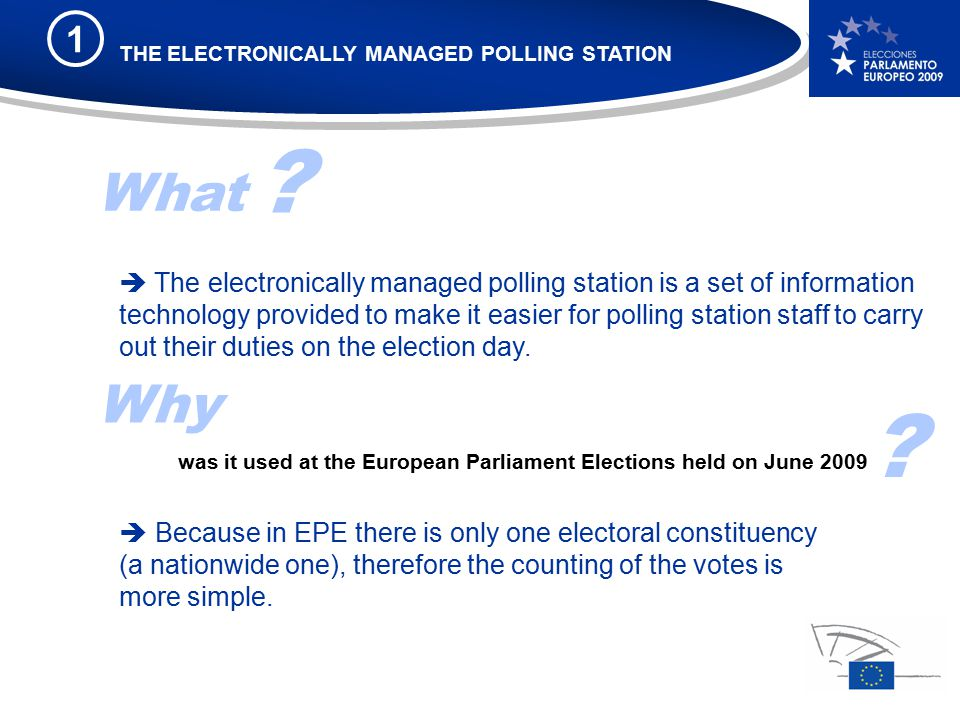 What  The electronically managed polling station is a set of information technology provided to make it easier for polling station staff to carry out their duties on the election day.