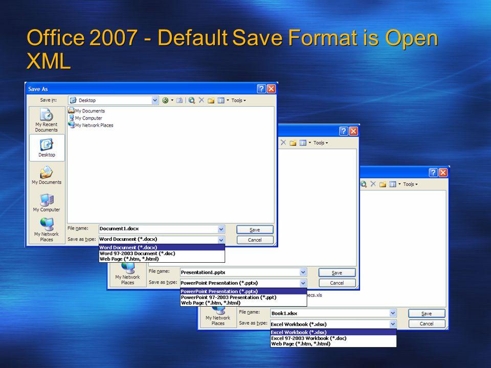 Office 2007 - Default Save Format is Open XML