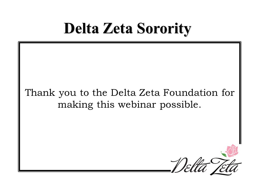 After this training you will be able to: Understand and explain the Delta Zeta Nominations and Election process Recognize how the Delta Zeta Nominations and Election process should be implemented within your chapter Assist your chapter in executing the Nominations and Election process Use the Nominations and Elections Manual as a valuable resource