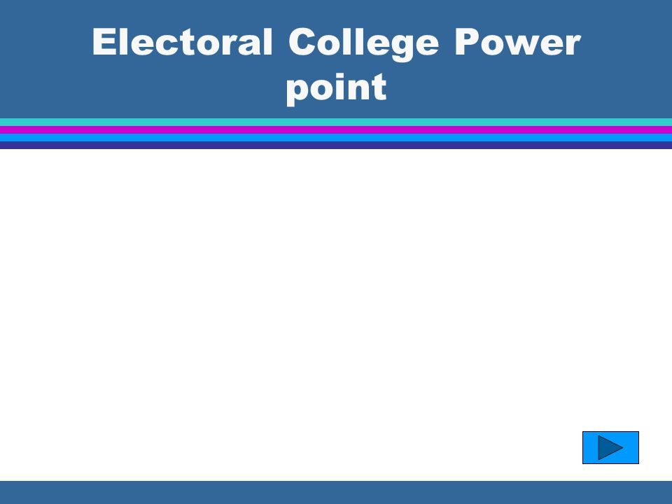 Electoral College Power point