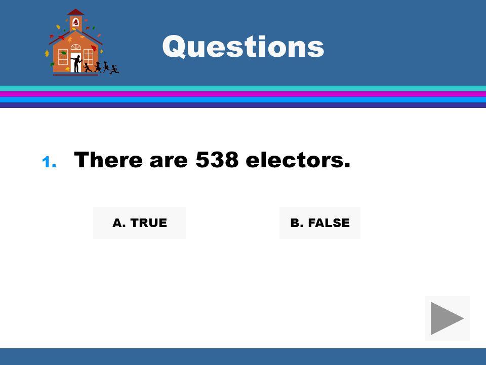 Amendments l 23rd Amendment gave the District of Columbia 3 electors for a total of 538. l 12th Amendment said the electors will vote once for Preside