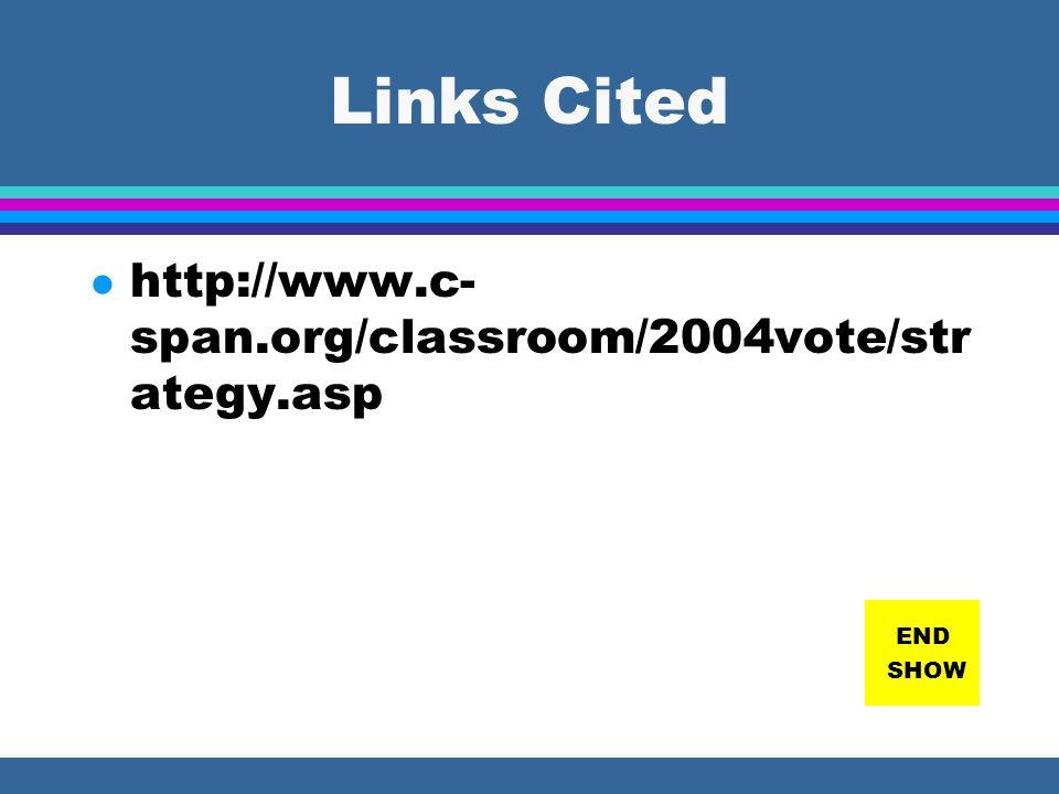 LINKS FOR STUDY http://www.fec.gov/pages/ecmenu2.htm http://www.grayraven.com/ec/ http://www.infoplease.com/ipa/A0781447.ht ml http://www.uky.edu/LCC/